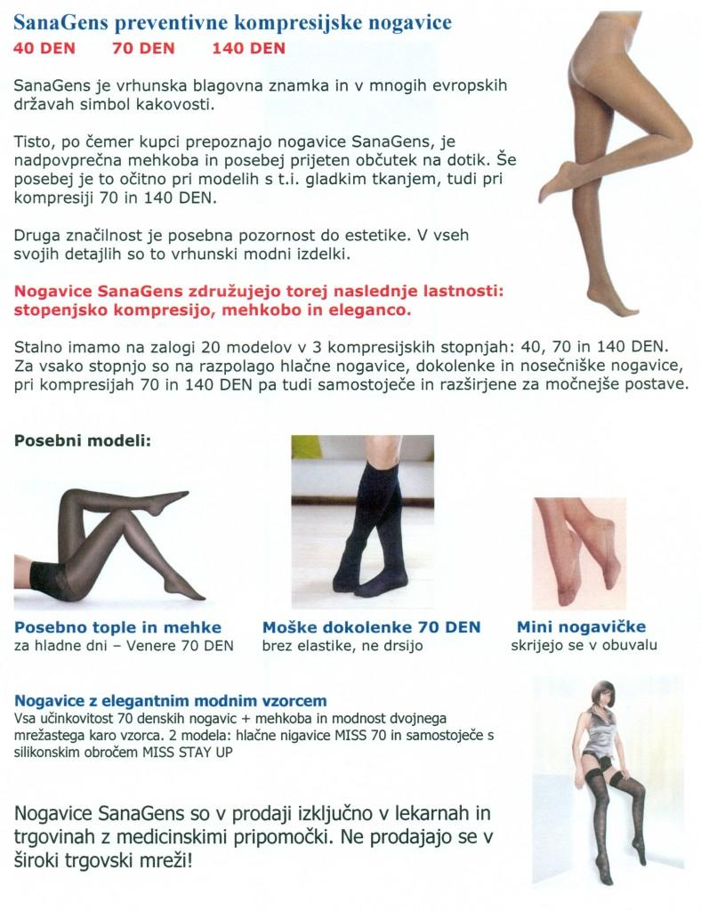 SanaGens kompresijske nogavice